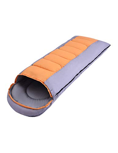 BESBOMIG Envelope Sleeping Bag Camping Outdoor Waterproof Warm with Compression Sack