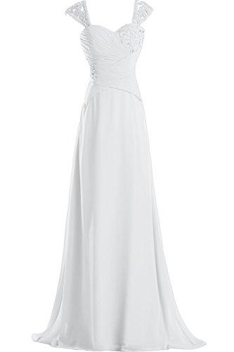 Missdressy -  Vestito  - linea ad a - Donna bianco 48