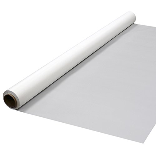 """Party Essentials 4015WH Heavy Duty Banquet Roll Plastic Table Cover, 150' Length x 40"""" Width, White (Pack of 4)"""