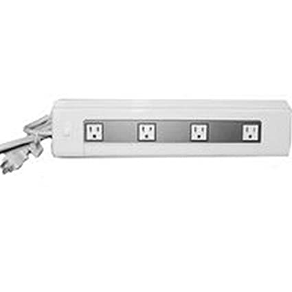 Legrand Plugmold Under Cabinet Power And Lighting, 8W Fluorescent, PX1001  4 Outlet