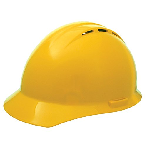 ERB 19252 Americana Vent Cap Style Hard Hat with Slide Lock, Yellow
