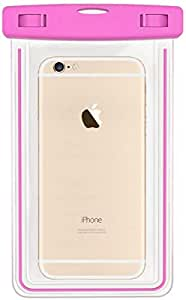 For iPhone 6S Plus - Waterproof Bag Case Cover apple iPhone 6S Plus - Universal Size - (Pink)