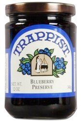 Trappist Blueberry Preserves - All Natural 12 oz.