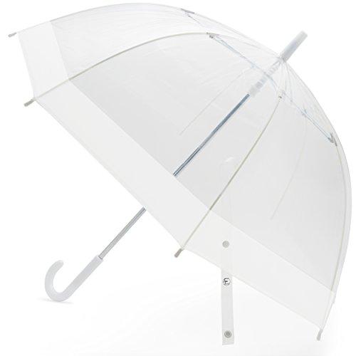 Designed Umbrella (Windproof Kids Bubble Umbrella   Designed in the USA (Clear with White Trim))