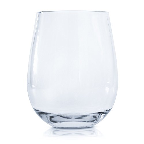 Every Loft Stemless Unbreakable Wine Glass, Tritan Plastic, BPA-Free, Dishwasher-Safe, 16-Ounce, Set of 4