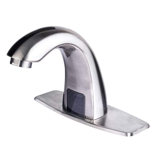 Great Features Of Charmingwater Automatic Sensor Touchless Bathroom Sink Faucet with Hole Cover Plat...