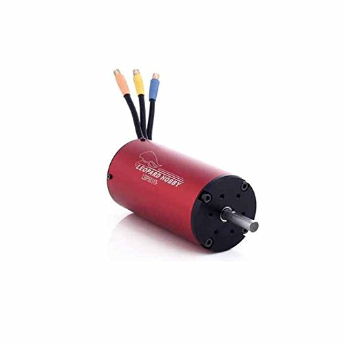 Leopard Brushless Motor (Leopard 56110 4-Pole Brushless Inrunner Motor, 950KV For 1/5 Scale RC Car, Boat)