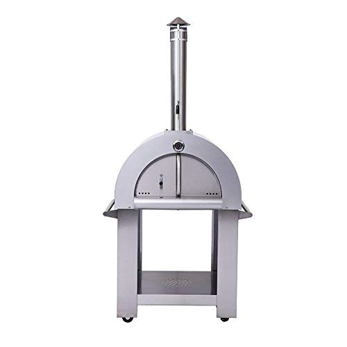 "32.5"" Wood Fired Stainless Steel Artisan Pizza Oven or Grill, Outdoor or Indoor"