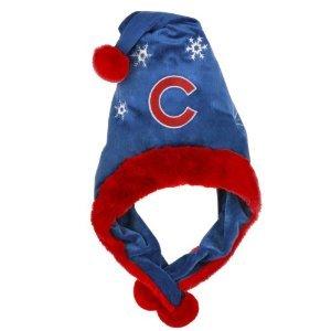 Chicago Cubs MLB Official Team logo stadium Dangle Santa Hat *NEW ITEM*