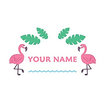 Personalised Flamingo Wall Sticker Wall Decal Childrens Kids Nursery Bedroom