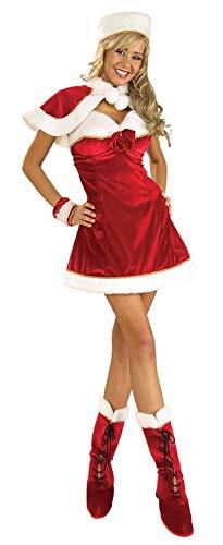 (Rubie's Women's Santa's Miss Inspiration Dress, Red/White, One)