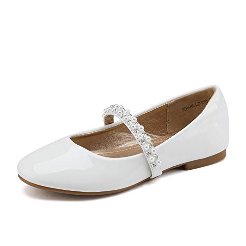 First Communion Shoes White - DREAM PAIRS Big Kid Serena-100-White Pat