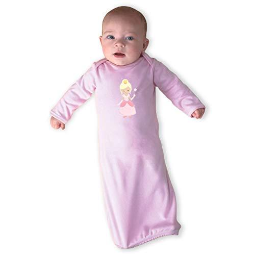 Cute Rascals Oz Glinda Long Sleeve Envelope Neck Boys-Girls Cotton Newborn Sleeping Gown One Piece - Soft Pink, Gown -