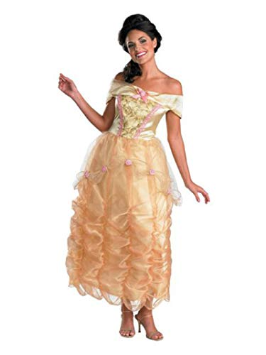 Disguise Disney Beauty And The Beast Belle Adult Deluxe Costume, Gold/Yellow/Pink, Large/12-14