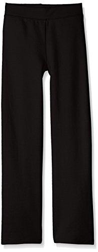 Hanes Girls' Big Girls' Comfortsoft Ecosmart Open Bottom Fleece Sweatpant, Black, XL