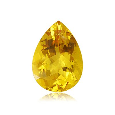 Mysticdrop 0.55-0.70 Cts of 7X5 mm AA Pear Yellow Beryl (1 pc) Loose Gemstone by Mysticdrop (Image #2)