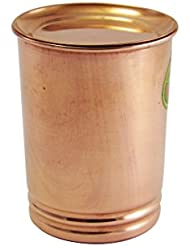 "Stylist and Silver Touch Copper Tumbler Traveller's Copper Mug With Copper Lids pure Copper glass cup for water - by "" Royalindia INC """