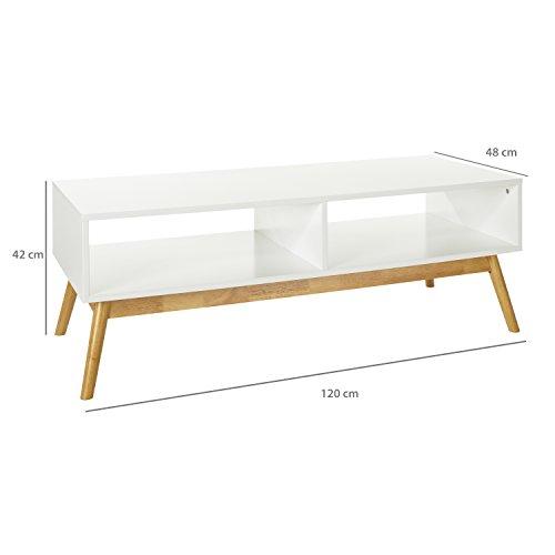 lomos tv lowboard aus holz in wei mit zwei f chern im modernen skandinavischen design. Black Bedroom Furniture Sets. Home Design Ideas