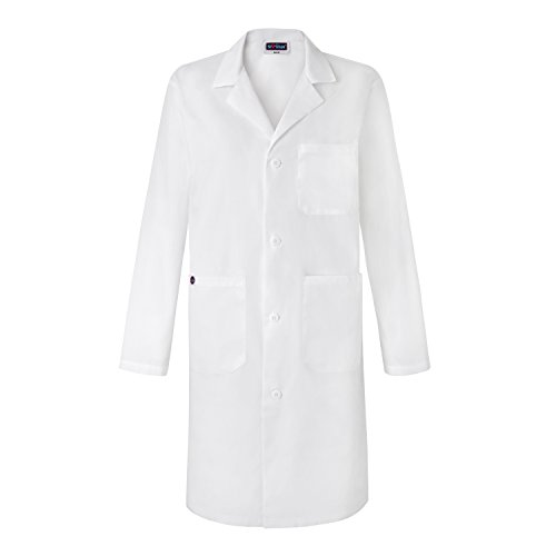 Sivvan Unisex 39 Inch Lab Coat - Back Pleated - S8802 - White - L