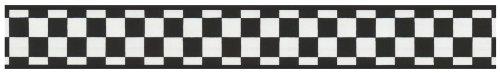 White Plaid Wallpaper (York Wallcoverings IN2642B Check Border, Black/White)