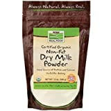 Non-Fat Dry Milk, Certified Organic, 12 oz (340 g) ( Multi-Pack)