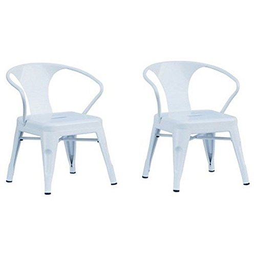 Reservation Seating Kids Steel Chair, White, One Size by Reservation Seating