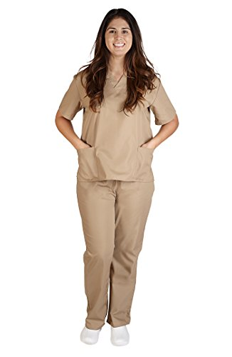 NATURAL UNIFORMS Women's Scrub Set Medical Scrub Top and Pants M ()