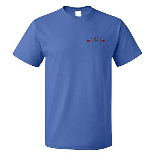 Funny Graphic T Shirts for Men Horseshoe Lifeline a Cotton Top Royal Blue X Large ()