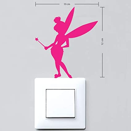 Sticker Interrupteur Aspect Brillant Pink F/ée Clochette