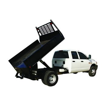 - Pierce 5 Ton Hefty Hoist Dump Bed Kit for Flatbed Pickups with Bed Lengths up to 12'