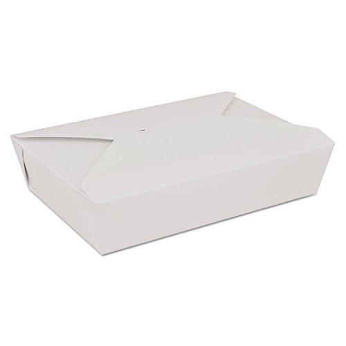 * ChampPakレトロCarryoutボックス、板紙、7 – 3 / 4 x 5 – 1 / 2 x 1 – 7 / 8、ホワイト   B00TORKBX6