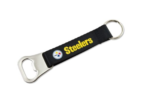 (NFL Pittsburgh Steelers Bottle Opener Lanyard Key Ring)