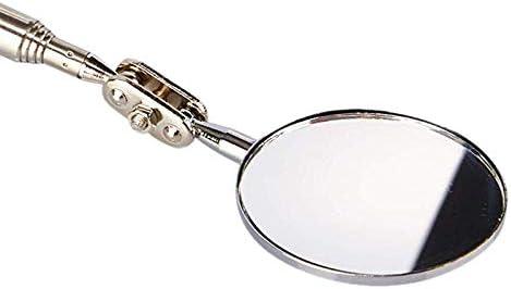 Schwarz Ausziehbar Bis zu 24,5 Zoll TOOGOO Runder 2 Zoll Inspektions Spiegel im 2 Pack