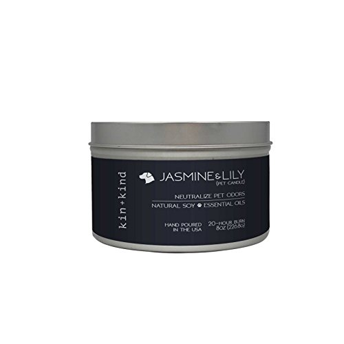 - kin+kind Jasmine+Lily Pet-Odor Neutralizing Candle, 8 oz.