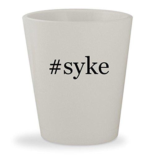 #syke - White Hashtag Ceramic 1.5oz Shot Glass