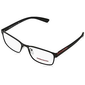 Prada Linea Rossa Men's PS 50GV Eyeglasses Black Rubber 55mm