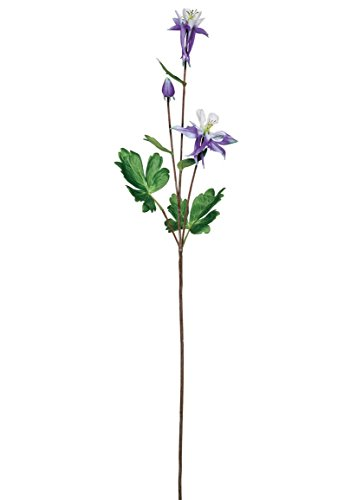 "Sullivans (SUL-) Purple Columbine Artificial Flower Spray - 26.5"" Tall"