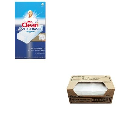 KITCHI8483PAG82027 - Value Kit - Worxwell General Purpose Cleaning Towels, White, 13 x 15, 300/Carton (CHI8483) and Mr. Clean Magic Eraser Foam Pad (PAG82027) by Chix