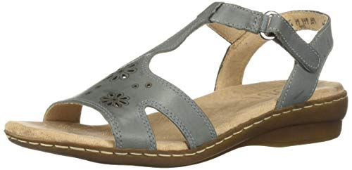 SOUL Naturalizer Women's BRIO Sandal, STONEWASH DENIM, 7 M US