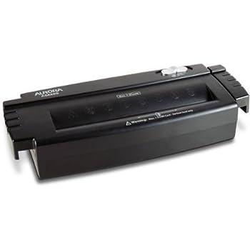 Aurora 6-Sheet Strip-Cut Paper/Credit Card Shredder without Wastebasket