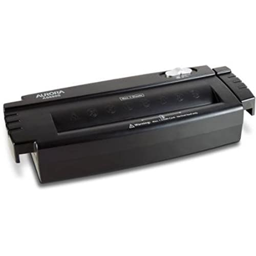 aurora 6 sheet strip cut papercredit card shredder without wastebasket