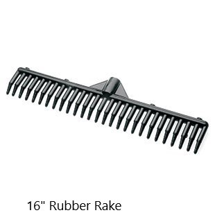 "Sweepa Rubber Broom. Various Poles and Head Sizes Available. Dutch Rubber Broom, with Squeegee. BONUS Cleaning Cloth with EVERY Purchase. (16"" Rake Head)"