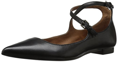 Frye Womens Sienna Cross Ballet Nero Piatto