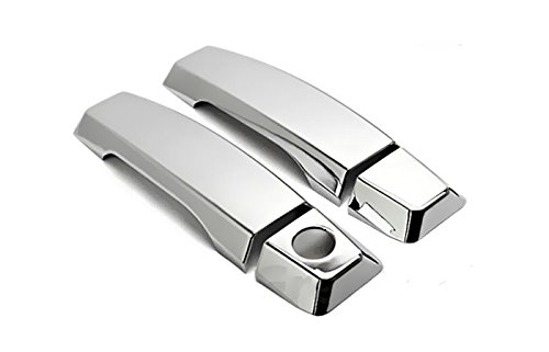 MaxMate Fits 04-14 Nissan Titan Chrome 2 Doors Handle Cover W/O Passenger Side Keyhole ()