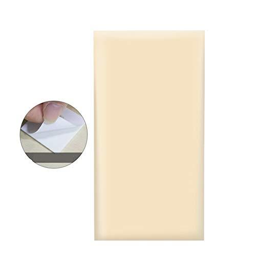 - LIANGJUN Bedside Cushion Upholstered 3D Wall Panels Anti-Collision PU Soft Case Waterproof Wear Resistant, 30x60cm (Color : Beige#, Size : 10-pcs)