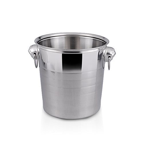Large Ice Bucket | Stainless Steel Cheap Champagne Ice Bucket Wine Chiller | 6 Quarts