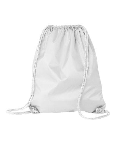Liberty Bags Large Drawstring Backpack OS White