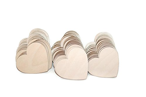 Gocutouts Wooden Hearts Laser Cut Package of 25 Wood 3