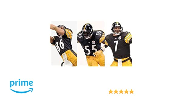 Amazon.com: McFarlane Toys, NFL 3-Pack Pittsburgh Steelers (Ben ...