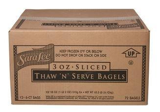 Sara Lee Thaw & Serve Sliced Bagels, Cinnamon Raisin,3 oz., (72 per case)